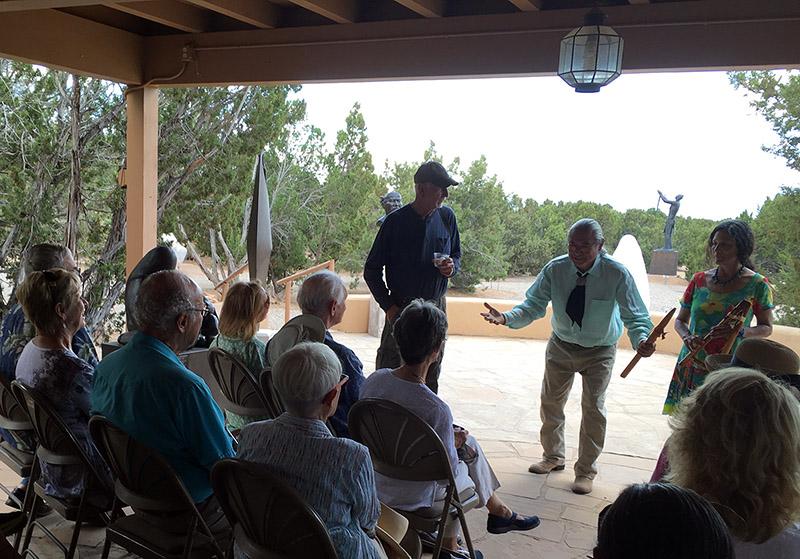 Santa Fe Native flutists Phillip Haozous and Hyda Maria Dougherty